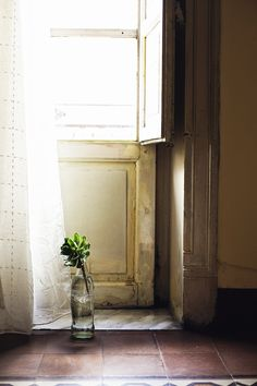 Palermo ~ door, jar with flower