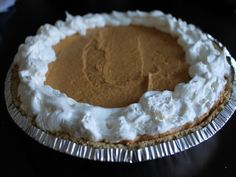 Save space in your oven on Thanksgiving with this no bake pumpkin pie cheesecake recipe from Food.com.