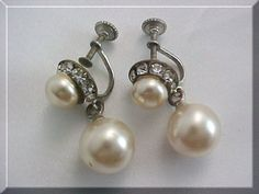 screw back earrings....my mom wore these type and finally got her ears pierced late in life.