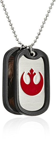 Star Wars Jewelry Episode 7 Chewbacca Stainless Steel Double Dog Tag Pendant Necklace, 22 by Star Wars Jewelry -- Awesome products selected by Anna Churchill