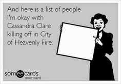 City of Heavenly Fire book review! *no spoilers included* http://olivia-savannah.blogspot.nl/2014/06/city-of-heavenly-fire-book-review.html