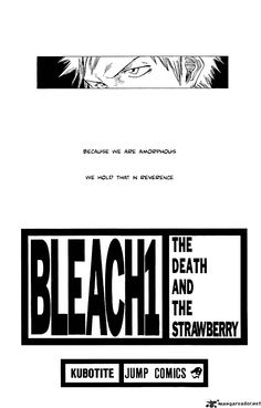 "Bleach, Chapter 1, ""The Death and the Strawberry."" Page 2"