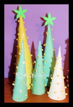 Paper Xmas trees