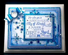 Our Daily Bread Designs Stamp set: Born This Day, Snowflake Border Background, Our Daily Bread Designs Custom Dies: Small Bow