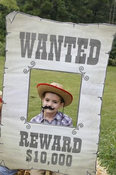 Birthday photo booth! Lucas Turns 5 Years Old - Kid's Cowboy Themed Birthday Party! | Jolly Mom