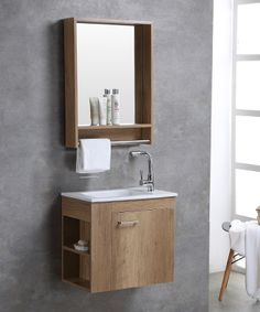 small bathroom cabinet with mirror cabinet and towel bar