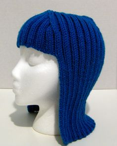 Yarn Wig Knit Wig Hat Hair Wig Halloween by cozyknitsforyou