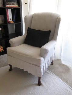 Beau My Wing Chair Slipcover Reveal!