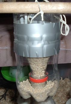 So we got some new chicks –  So, to whip up some cheap feeders…I've given up on floor based feeders, they, being chickens, walk through and fill the containers with sawdust instan…