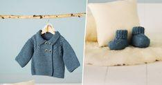Layette bébé: patron pour tricoter une veste et des chaussons
