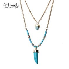 Natural turquoise multi layer necklace vintage beaded chain pendant necklace  Only $4.99 => Save up to 60% and Free Shipping => Order Now!  #Earrings #Rings #Handmade #Silver Jewelry #Pandora Bracelets #Nature Stone Jewelry #Jewelry #Necklaces #Bracelets  http://www.onedollarlive.com/product/natural-turquoise-multi-layer-necklace-vintage-beaded-chain-pendant-necklace/
