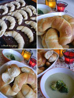 Barbi konyhája: Ropogós tejes kifli Mashed Potatoes, Sausage, Barbie, Meat, Chicken, Ethnic Recipes, Food, Whipped Potatoes, Smash Potatoes