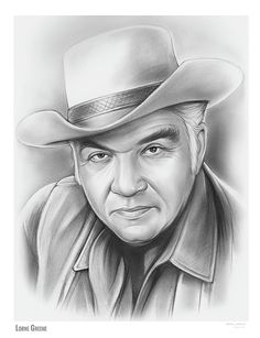 Lorne Greene von Greg Joens Lorne Greene – Pencil Sketch of the Day for June 2017 A Canadian actor, radio personality, and singer. His television roles include Ben Cartwright on the western Bonanza, and Commander Adama in the science fiction televisio Drawing Sketches, Pencil Drawings, Art Drawings, Pencil Art, Horse Drawings, Drawing Art, Celebrity Drawings, Celebrity Portraits, Lorne Greene