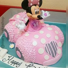 Image result for minnie mouse car cake