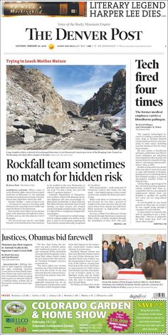 #20160220 #USA #Denver #COLORADO #TheDenver Post Saturday FEB 20 2016 http://en.kiosko.net/us/2016-02-20/np/denver_post.html