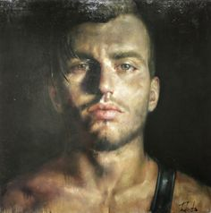 """Michail Tsakountis,""""Dimitri"""" oil on canvas Figure Painting, Painting & Drawing, Visual And Performing Arts, Art Of Man, Inspirational Artwork, True Art, Male Figure, Male Form, Art Images"""