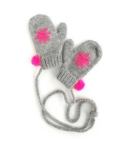 Snowflake mittens neon by Fournier