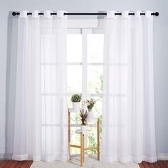 11 Best White Sheer Curtains - CountryCurtains Sheet Curtains, Voile Curtains, Window Curtains, Voile Panels, Sheer Curtain Panels, White Sheer Curtains, Beautiful Curtains, Country Curtains, Bedroom