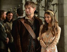 """Reign -- """"The Prince of the Blood"""" -- Image Number: -- Pictured (L-R): Torrance Coombs as Bash and Caitlin Stasey as Kenna -- Photo: Ben Mark Holzberg/The CW -- © 2014 The CW Network, LLC. All rights reserved. Bash And Kenna, Reign Bash, Reign Season 2, Celina Sinden, Lady Kenna, Reign Serie, Caitlin Stasey, Reign Tv Show, Reign Fashion"""