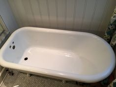 "heads up!     There's little ""good information"" out there regarding the rehabilitation of a salvaged clawfoot or other cast iron porcelain enamel tub without prof. spraying or  DIY attempts at resurfacing. here it is. in detail, with pictures."