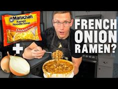 Today, Mythical Chef Josh is showing you some easy to make recipes at home with ramen noodles and whatever you have lying around in your kitchen. Ramen Hacks, Food Hacks, Ramen Recipes, Noodle Recipes, Asian Recipes, One Pot Meals, Easy Meals, Raman Noodles, Cooking