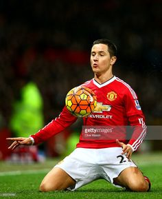 Ander Herrera of Manchester United controls the ball during the Barclays Premier League match between Manchester United and Chelsea at Old Trafford on December 28, 2015 in Manchester, England.