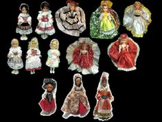 I loved these Dolls of the World that were displayed on mantelpieces and bookcases in some friends' houses