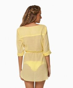 Sofia Yellow Naya Chemise Dress   ViX Paula Hermanny   V i X Paula Hermanny
