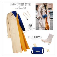 """""""NYFW Street Style: Day One"""" by marthalux ❤ liked on Polyvore featuring Casetify, Lacoste, TIBI, Balmain, Jason Wu, Moncler, Pomellato and Movado"""