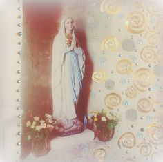 Church Statue, decorated photograph from my adorn series.Atelier Jen