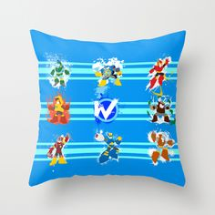 GEEK GADGETS - Robot Masters of Mega Man 2 Throw Pillow by The Daily Robot | Society6