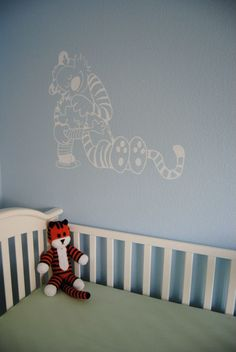 Subtle Calvin & Hobbes Mural -- M's going to love this!