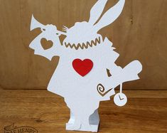 WHITE RABBIT Alice in Wonderland Themed Decoration Prop Wedding Party