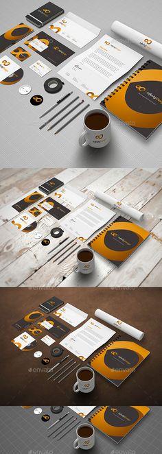 Photo Realistic Stationery Mock-Up (Stationery)