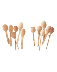 Small Assorted Beechwood Spoons (Set of 6)