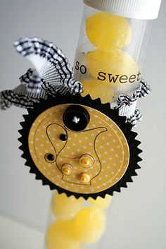 "SRM Stickers - @Gina Hanson created this yummy TUBE filled with lemon drops and decorated with ""so sweet"" stickers from SRM's We've Got Your Sticker SWEET design."