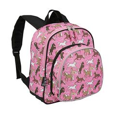 Wildkin Horses in Pink Pack 'n Snack School Backpack ($30) ❤ liked on Polyvore featuring bags, backpacks, kids' backpacks, pink, mesh bag, pink mesh backpack, wildkin bags, embroidered bags and knapsack bags