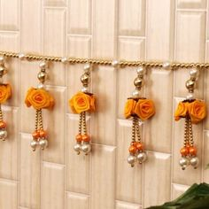 hand made bandarwal<> . Housewarming Decorations, Diy Diwali Decorations, Festival Decorations, Handmade Decorations, Flower Decorations, Diwali Craft, Diwali Diya, Diwali Gifts, Door Hanging Decorations