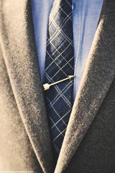 For dad: Arrow Tie Bar http://www.merrinandgussy.com/men/the-arrow-tie-bar photo via Kolonel Mustard
