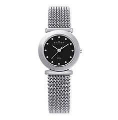 Product: Skagen Denmark Silver Ladies' Stretch Mesh Watch Titanium Watches, Skagen Watches, Jewelry Watches, Mesh, Denmark, Silver, Dress Watches, Beautiful Things