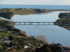 New Zealand River Mouth, New Zealand Houses, Kiwiana, The Beautiful Country, British Isles, Auckland, Homeland, Bridges, Islands