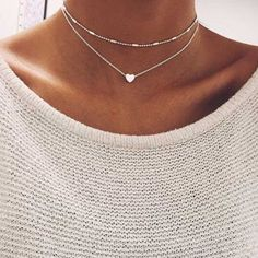 This Double Chain Heart Pendant Choker is STUNNING! This beautiful heart pendant choker is a MUST-HAVE! The Double Chain Heart Pendant Choker is simple, yet cla Heart Choker, Heart Pendant Necklace, Pendant Jewelry, Jewelry Necklaces, Heart Necklaces, Jewelry Watches, Necklace Chain, Statement Jewelry, Collar Necklace