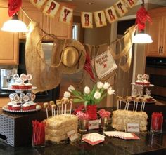 Love her Cowboy/Cowgirl birthday party theme. Wanted posters, lasso practice, stampede, branding love it all! by constance