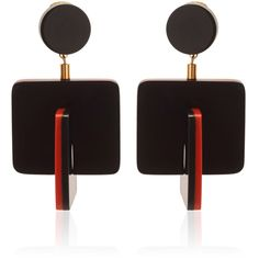 Marni Red Horn Earring ($640) ❤ liked on Polyvore featuring jewelry, earrings, stud earrings, geometric jewelry, geometric earrings, marni and horn jewelry