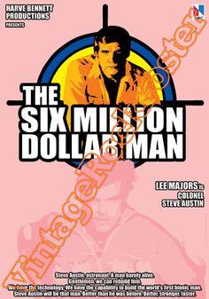 Cod. 532  The SIX MILLION DOLLAR MAN  Italian title: L'uomo da 6 milioni di dollari  Cast: Lee Major  Year : 1974