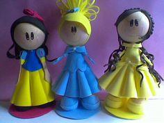 Fofuchas princesas passo a passo – Para quem se vale de técnicas de artesanato de produção de itens