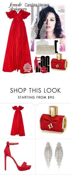 """Carolina Herrera-Fashion Icon"" by corina-orosz ❤ liked on Polyvore featuring Carolina Herrera, internationalwomensday, pressforprogress, FemaleDesigners and ByWomenForWomen"