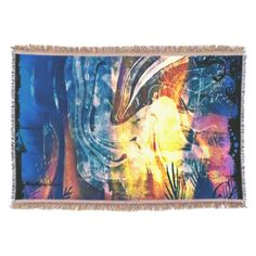 Painted Lady Abstract Throw Blanket