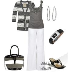 Gray and white; classic combo.