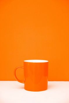 One must have tea in one's bookshop... and orange is our favourite colour.